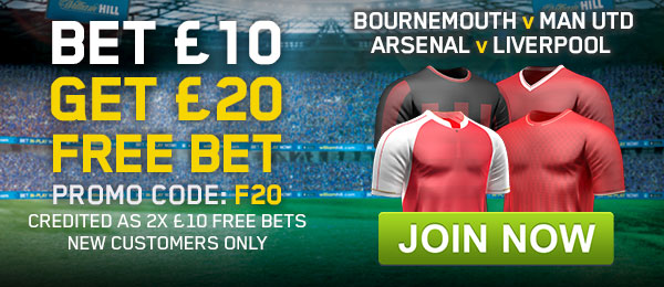 William Hill New Customer Offer - Bet £10 Get £20 Free